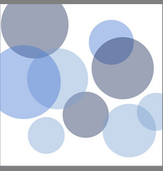 bubbles circle background vector image