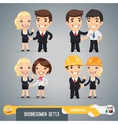 Businessmans Cartoon Characters Set13 vector