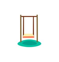 children swing cartoon swing vector image