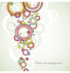 circle abstract watercolor background vector image
