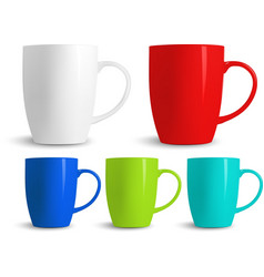 Colorful cups vector image