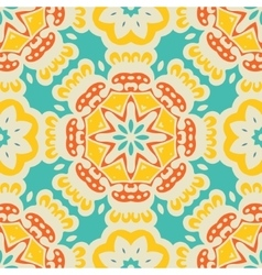 Colorful Ethnic Festive Abstract tiled pattern vector image