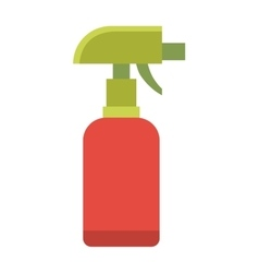 Colorful foggy spray bottle clean plastic hygiene vector