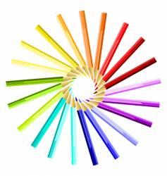 coloured pencils sun vector image