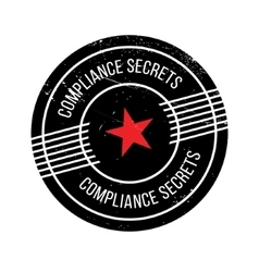 Compliance Secrets rubber stamp vector