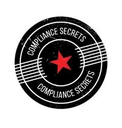 Compliance secrets rubber stamp vector