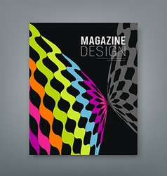 Cover magazine abstract butterfly design vector