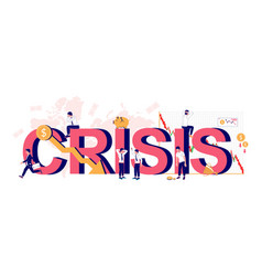 crisis typography banner template flat vector image