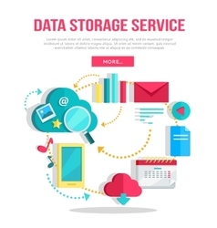 Data Storage Service Banner vector image