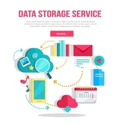 Data Storage Service Banner vector image
