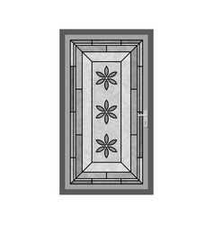 Design of door and front icon collection vector
