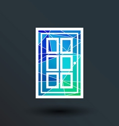Door icon button logo symbol concept vector image