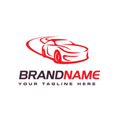 Drift car logo automotive logo design template vector