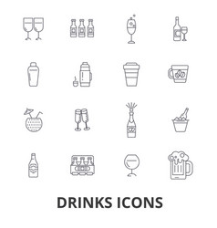drinks cocktail beer alcoholic drinks water vector image