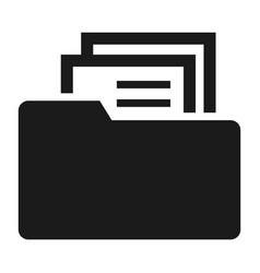 file folder icon simple style vector image