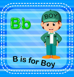 flashcard letter b is for boy vector image