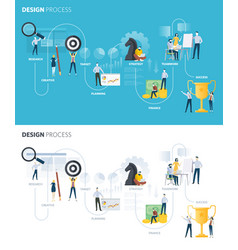 flat design style web banners of design process vector image