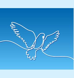 flying pigeon logo vector image