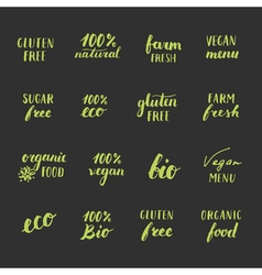 FoodLabels2 vector image