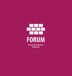 Forum conference business communication logo vector