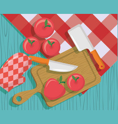 fruits cooking icons flat image design vector image