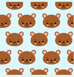 fun seamless pattern texture design bears for vector image