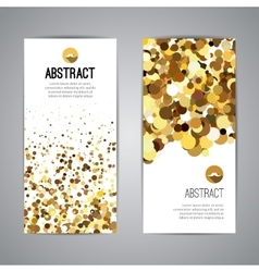 gold sparkles on white background golden banners vector image