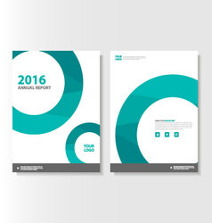 Green circle annual report leaflet brochure vector