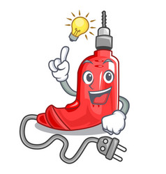 have an idea electric drill in the cartoon box vector image