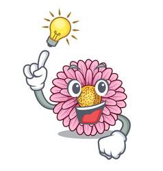 Have an idea gerbera flowers in the cartoon shape vector