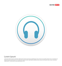 Headphone icon hexa white background icon template vector