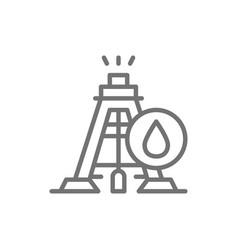 industrial drilling rig tower platform oil fuel vector image