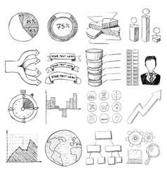 Infographic elements icons set cartoon style vector