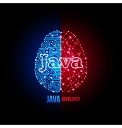Java developer concept vector