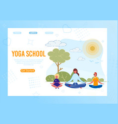 kids yoga outdoor classes lesson outdoor in park vector image