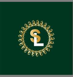 L s letter logo emblem design vector