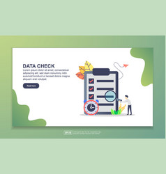 landing page template data check modern flat vector image