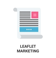 Leaflet promo icon vector