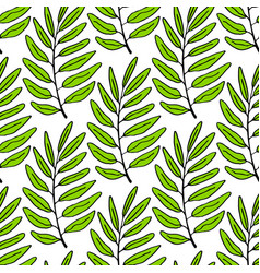 leaves seamless pattern tropical background can vector image