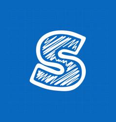 Letter s logo on blueprint paper background vector
