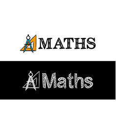 Logo for maths school subject vector