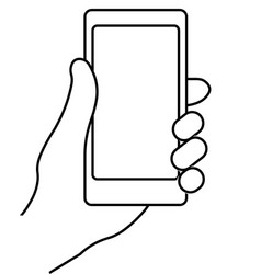 mobile phone in hand vector image