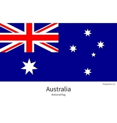National flag of Australia with correct vector
