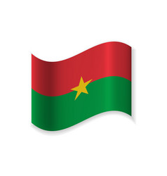 official flag of burkina faso vector image