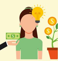 people saving money vector image