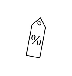 percent tag icon vector image