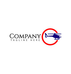 Plane company logo template design vector