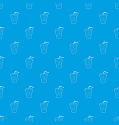 plastic cup of limonade pattern seamless vector image