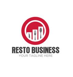 Restaurant business logo designs modern vector