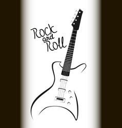 rock music poster bass guitar eps10 vector image